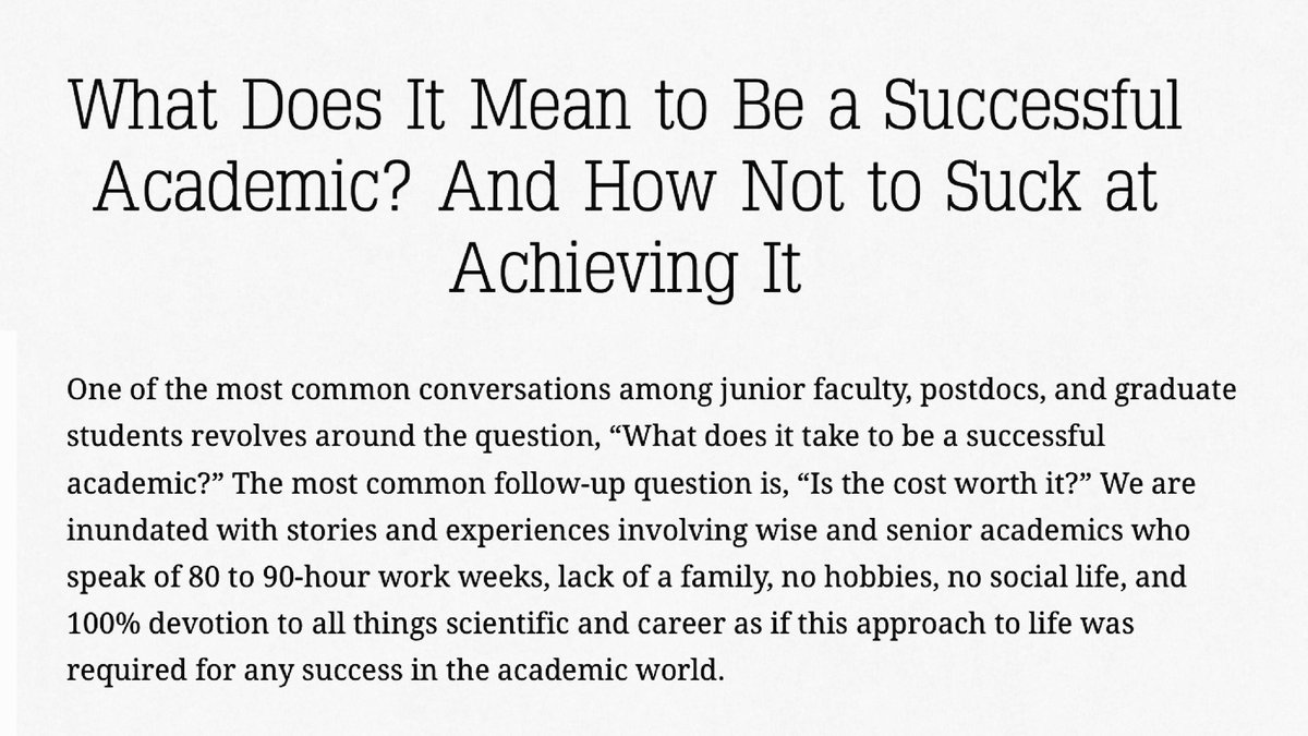 How to Be a Successful Academic How to Be a Successful Academic new photo