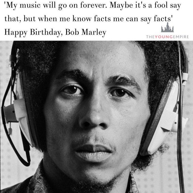 Happy Birthday, Bob Marley (Feb 6, 1945 - May 11, 1981)