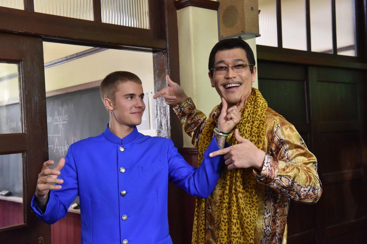 ジャスティン・ビーバー&ピコ太郎、ついに初対面!2ショット公開 oricon.co.jp/news/…