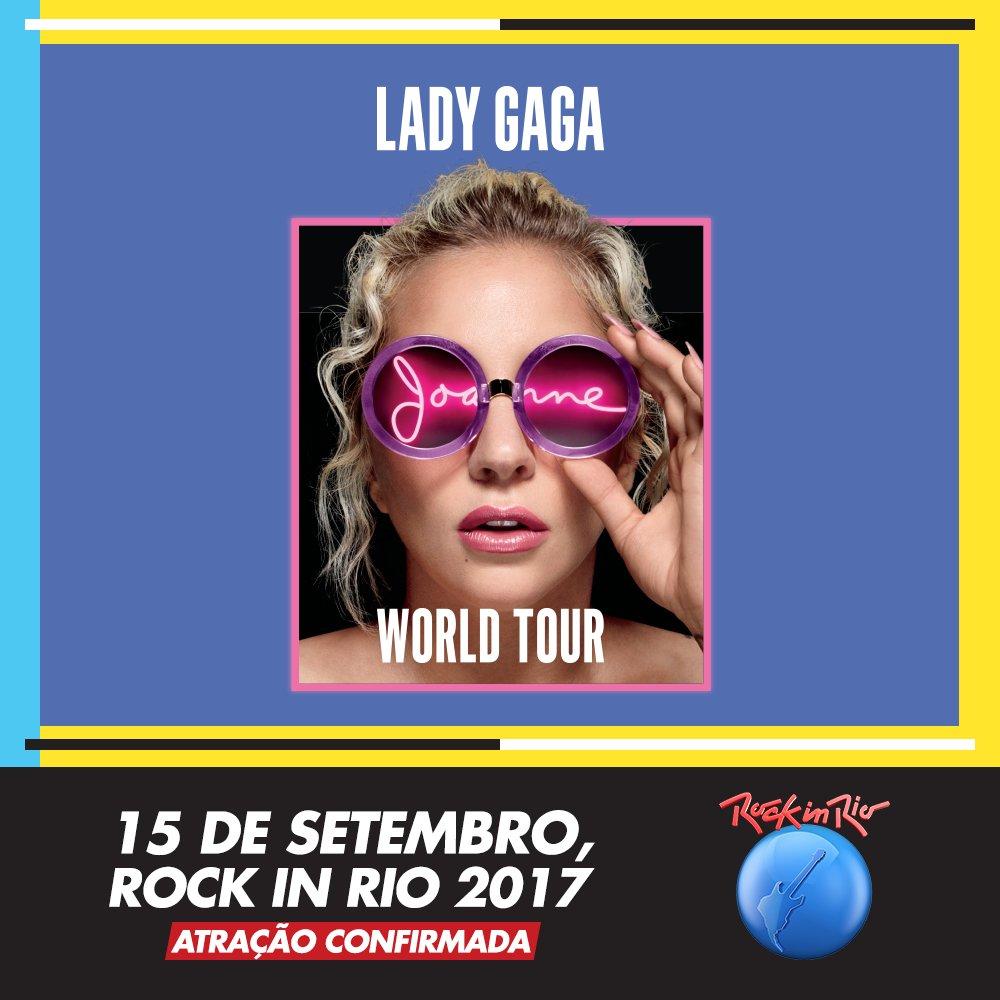 Little Monsters, paws up! Agora é oficial: @ladygaga, dia 15/09, no #RockInRio2017. Única apresentação no Brasil. Ingressos à venda: 6/04