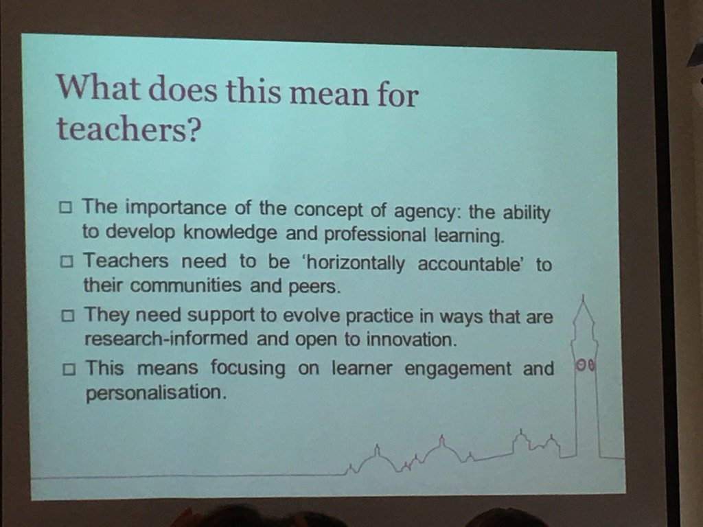 We need to help teachers to support and be collaborative, accountable and innovative in #taeathens https://t.co/U0w4vXQP0s