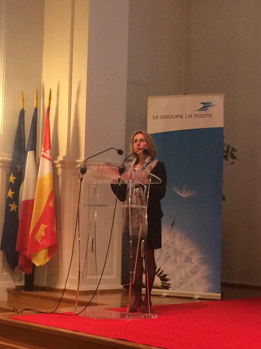 #voeux2017 @AnneMarieJean1 présente les services innovants déployés par @GroupeLaPoste sur @mulhouse #M2A<br>http://pic.twitter.com/OM5z1JPTJU