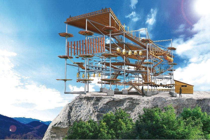 山頂の崖際でアスレチック!アジア初上陸の新アトラクション「マッスルモンスター」さがみ湖リゾートプレジ…
