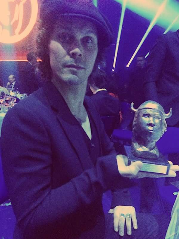 """Thank you for voting. Olet mun kaikuluotain won the Emma award for music video of the year."" - Ville valo https://t.co/brxkLgBXAz"