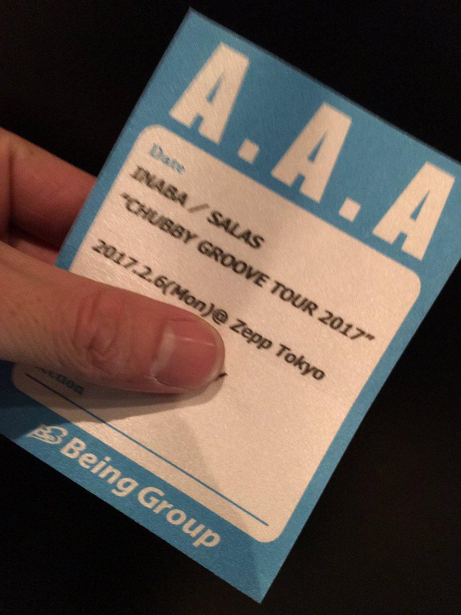 """ライブリハーサルの後、INABA / SALAS """"CHUBBY GROOVE TOUR 2017""""…"""