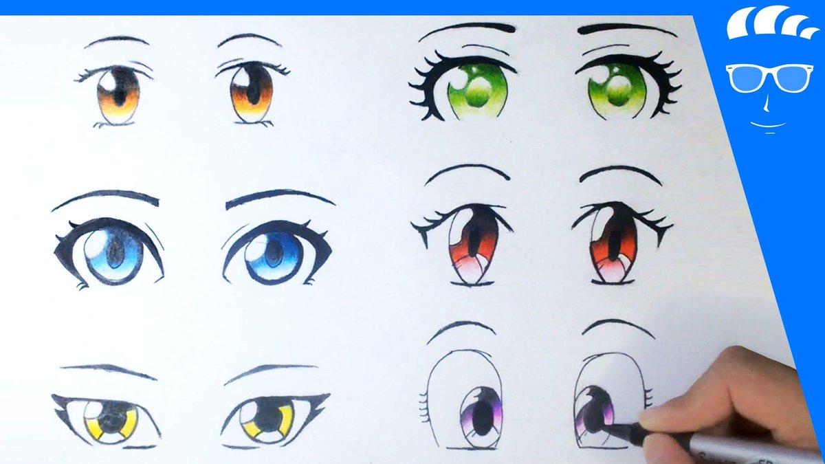 رسام مانجا On Twitter فيديوهات تعلم الرسم رسم 6 عيون انمي