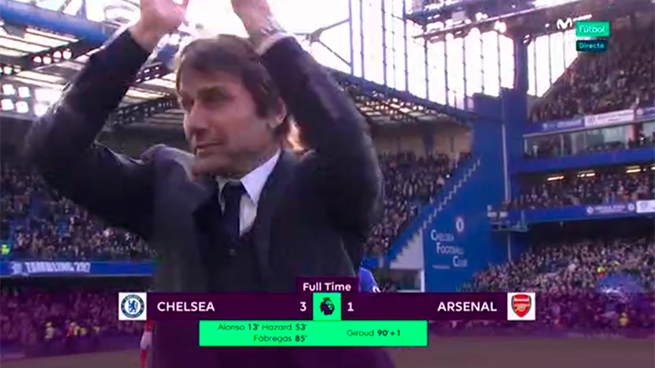 VIDEO divertenti: Antonio Conte durante Chelsea-Arsenal 3-1