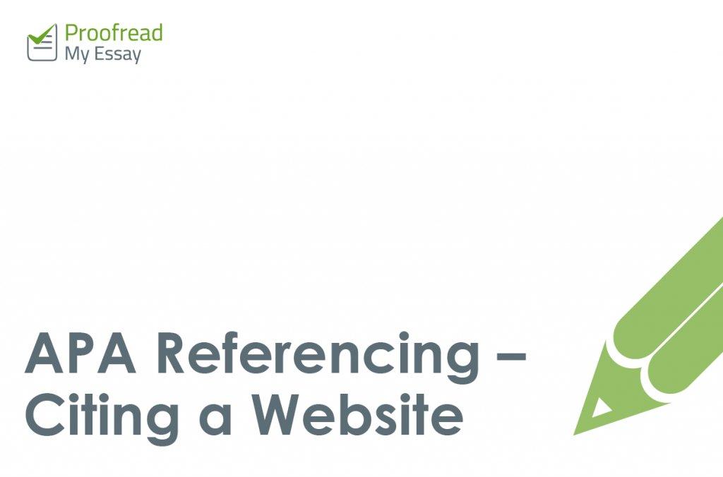 how to apa cite a website