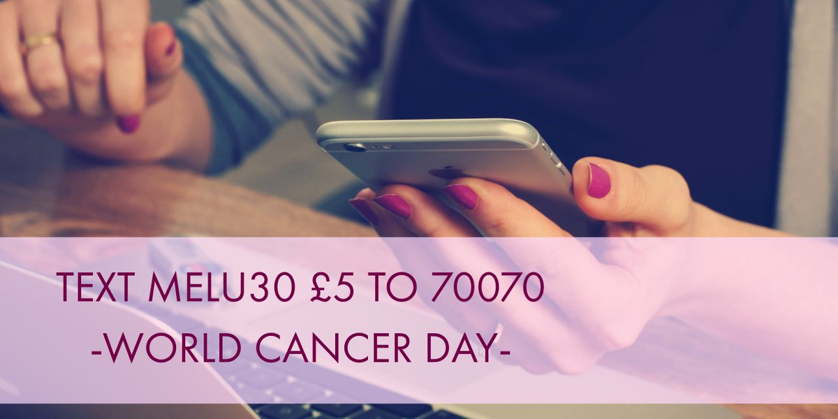 Today is #WorldCancerDay, help us beat #melanoma sooner by donating today.  Text MELU30 £5 to 70070.  Please RT. https://t.co/reYw4gzPXH