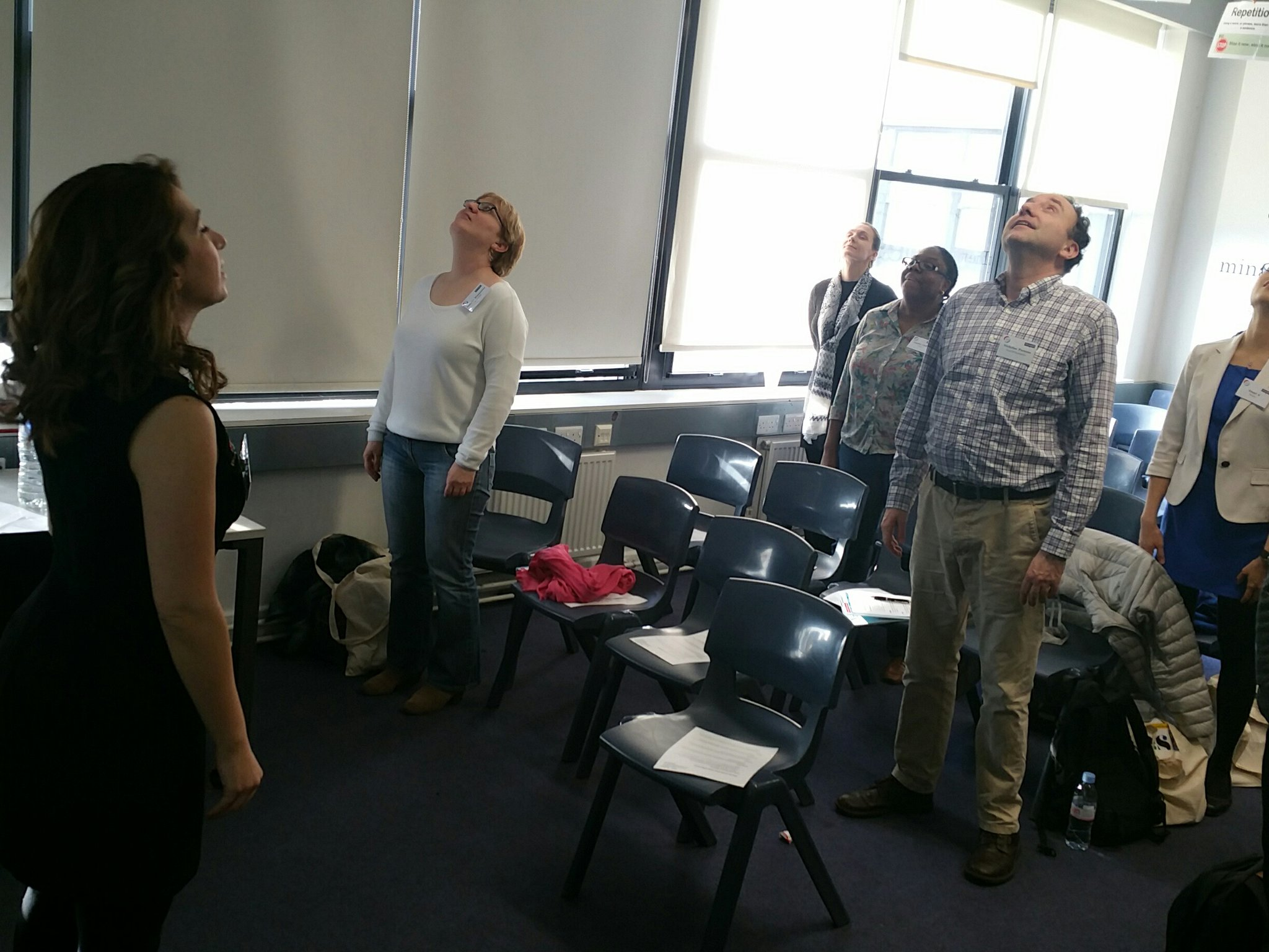 #teach2017 warm up for voice training for teachers with alexandra charalambous https://t.co/30DxdRBitl