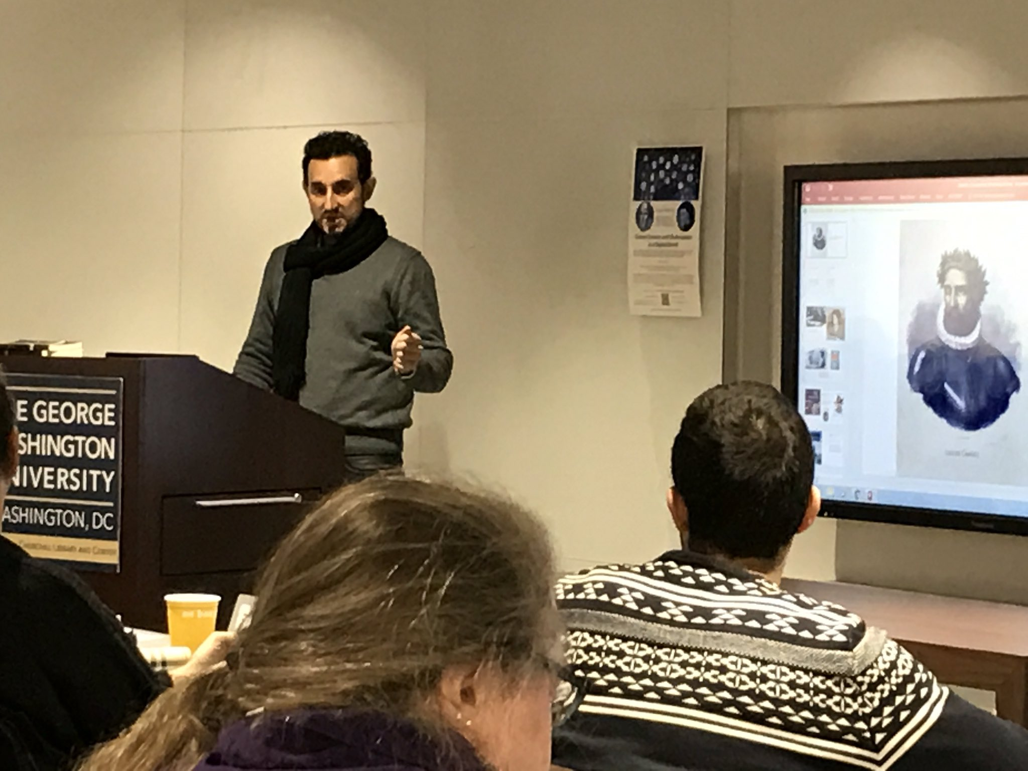 """José Francisco Botelho opens #gwdh17 w/ """"Of pilgrims, knights and cantadores: translating Chaucer and Shakespeare in modern Brazil"""" https://t.co/dd3YrxjYLu"""