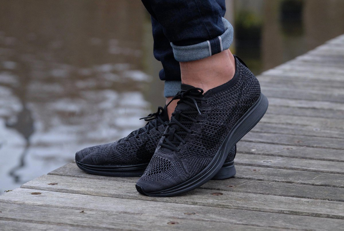 ... promo code for the sole supplier on twitter nike flyknit racer triple  black. still available 3f74d8e80
