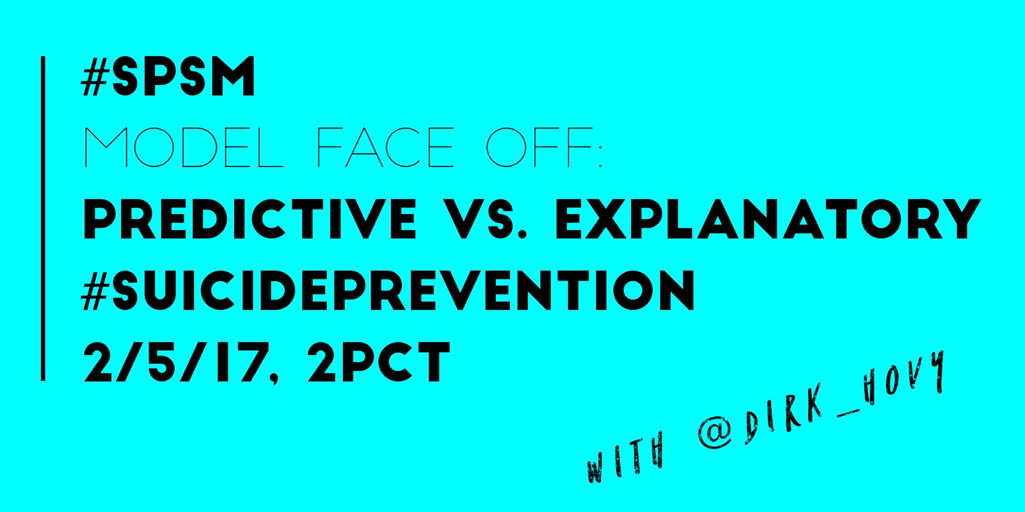 Thumbnail for @Dirk_Hovy chats with #SPSM about #predictive and #explanatory models in #suicide research, 2/5/17.