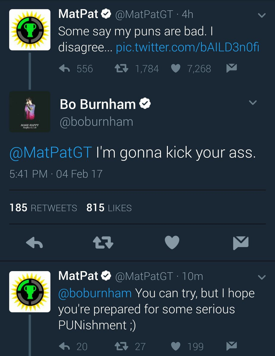 Game Theory Rejects On Twitter Deadlock Matpat Vs Bo Burnham As noted in the tweet below, matpat published his video with 75% of the tags leading to undertale, deltarune, or a toby fox created game, didn't include a link to the title, and entirely. deadlock matpat vs bo burnham