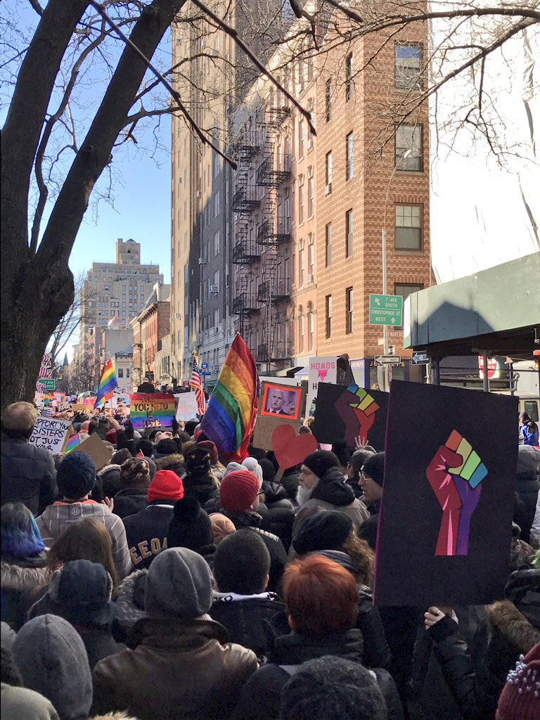 """""""An attack on any of us is an attack on all of us."""" #Stonewall #NoBanNoWall"""
