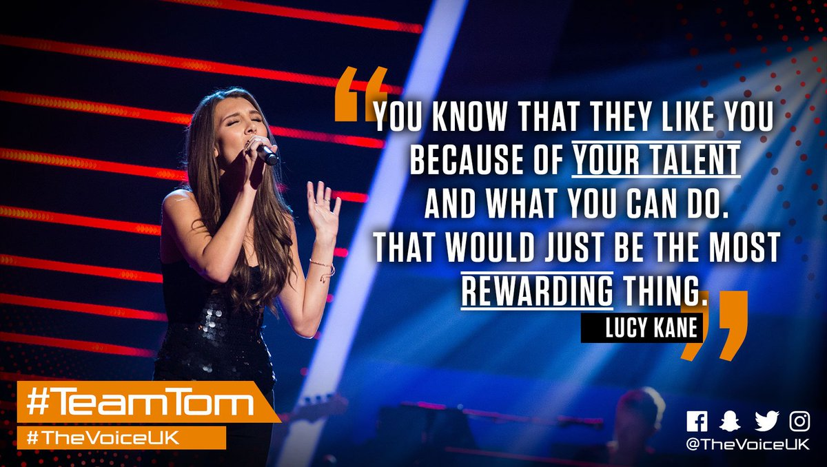 Lucy Kane from Hertfordshire sang to take up a spot on TeamTom TheVoiceUK