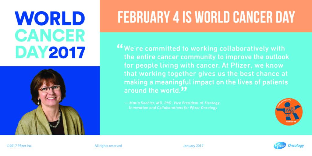 Pfizer Inc On Twitter This Worldcancerday Maria Koehler Talks About The Importance Of Collaboration In The Cancer Community Wecanican