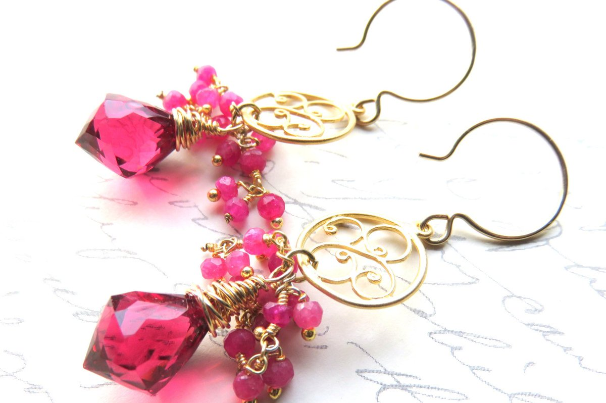 Hot Pink Quartz Earrings, Pink Wire Wrapped Briolet… http://tuppu.net/e97f5412  #JemsbyJBandCompany #PinkQuartzEarrings pic.twitter.com/PEBNEhyy7D