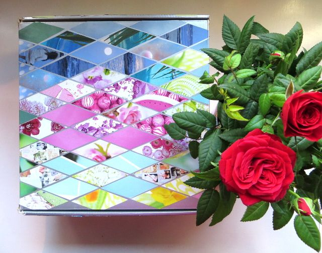 Diamond Collage Box Decoration and Card