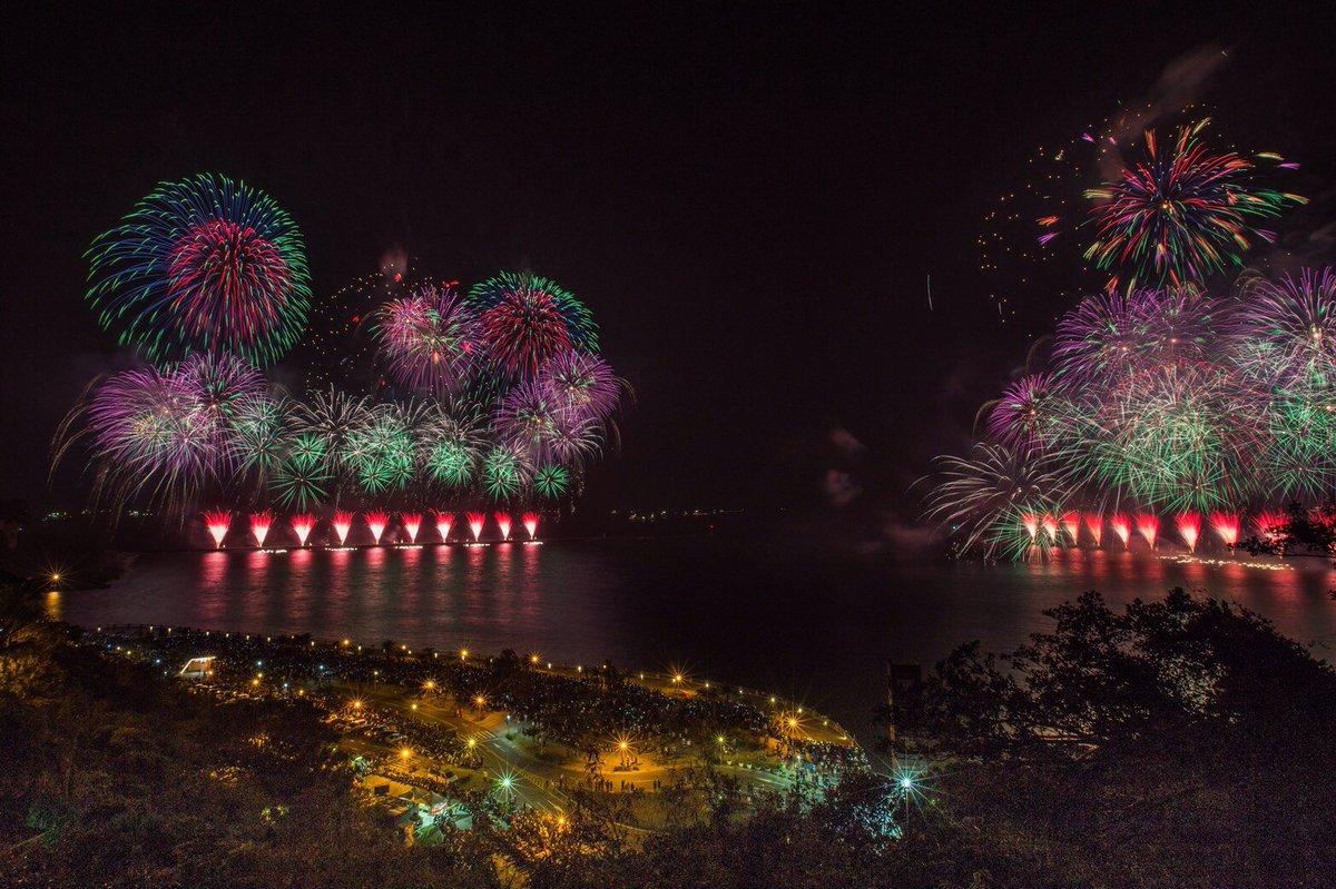 山、海、川の雄大な景色を背景に!台湾ではここだけで見れる「大港花火大会」in高雄!昨夜の10時から、…