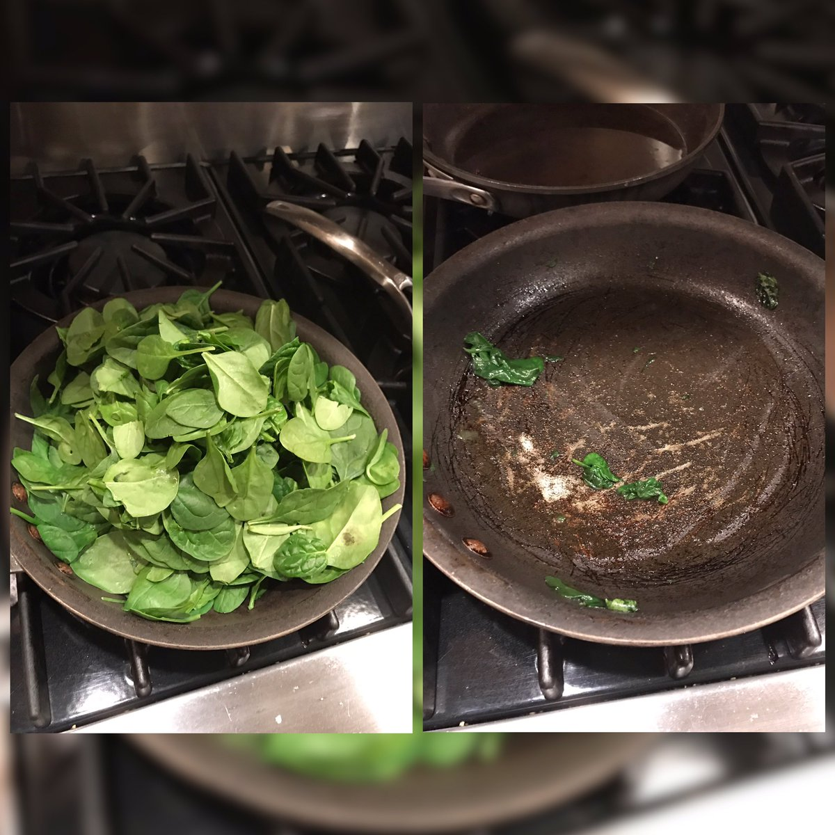 Cooking spinach be like .... https://t.co/tAXvhCfort