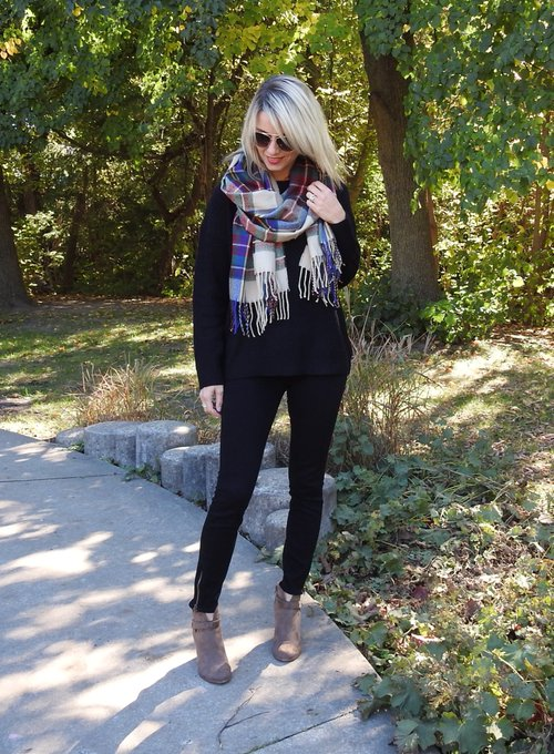 BLACK SWEATER AND PLAID ⋆ Tiaras and Heels
