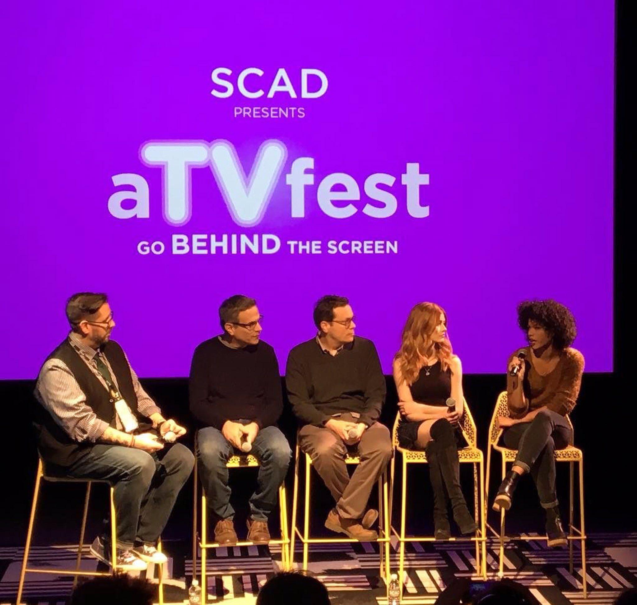 A peek at the #Shadowhunters panel at #aTVfest. 😍  Photo via @TVGuideMagazine's @JimHalterman. https://t.co/YbDjJxvhBh