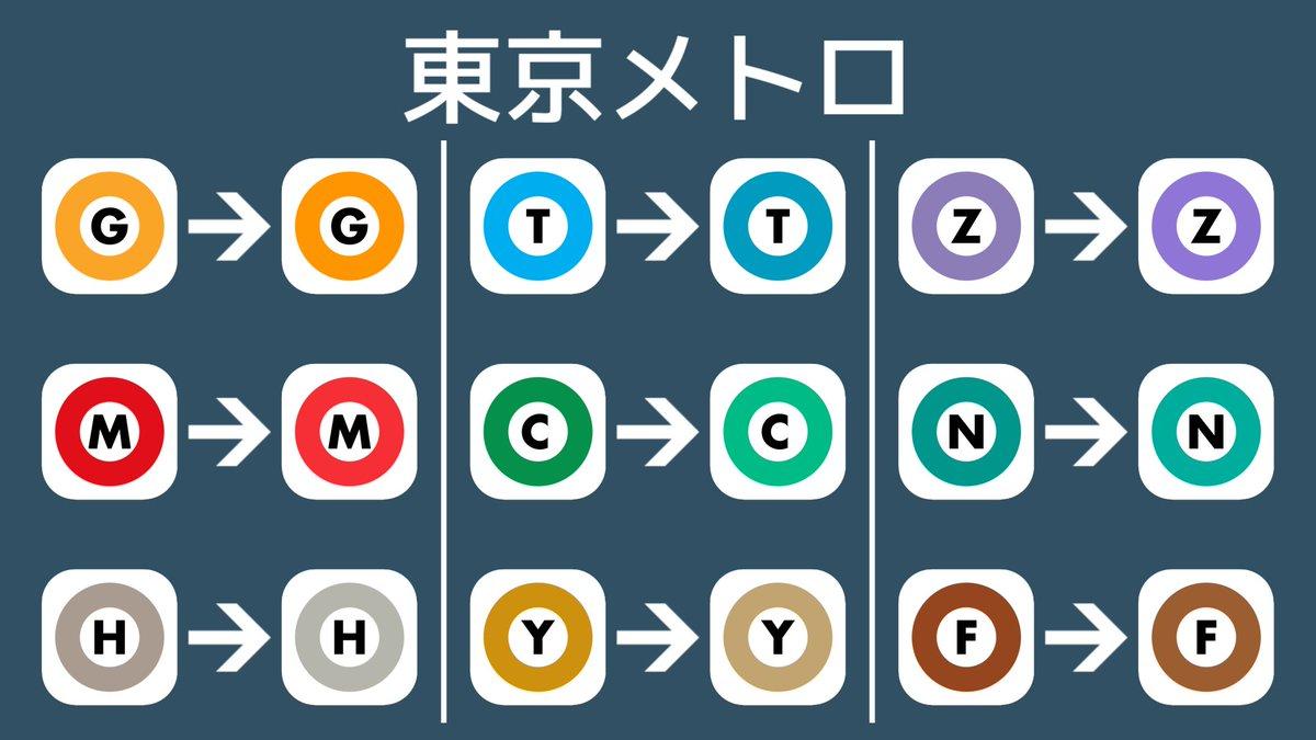 東京メトロのラインカラーが2015年頃から2016年頃にかけて微妙に変更されたのですが、気づいた人いますかね?