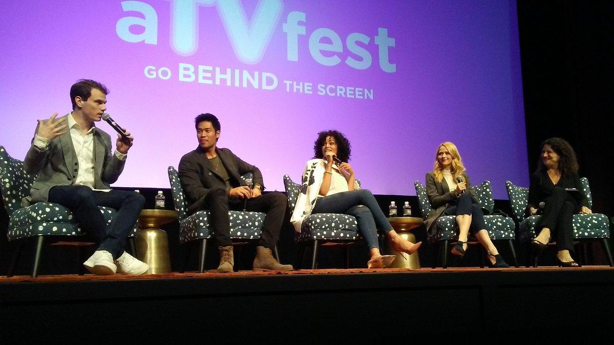 And that's a wrap for me at #ATVfest, with @QuanticoTV stars @JohannaEBraddy @PearlThusi @Jay_A_Johnson @davidbradleylim. #Quantico https://t.co/5TfTbZ74RI