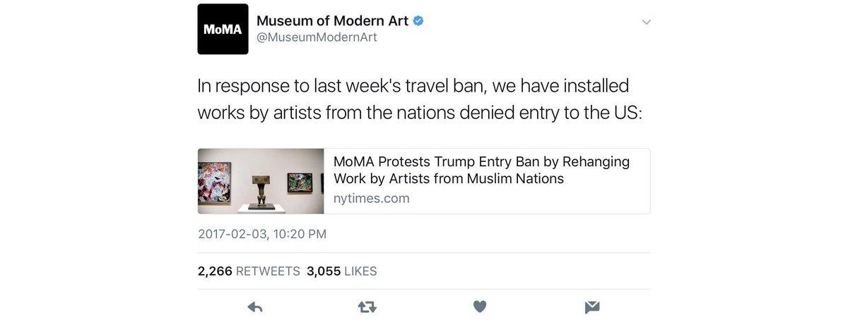 Museum Of Modern Art Trump Ban