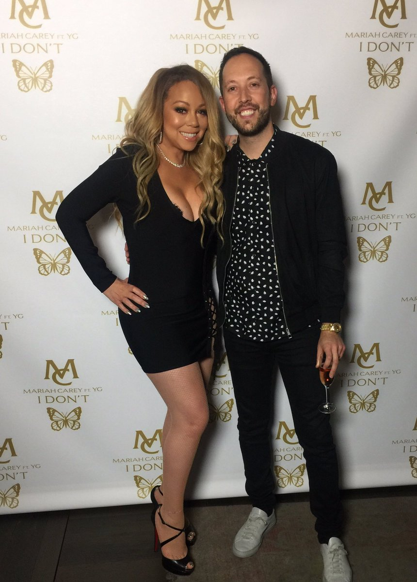 Lovely to be reunited w/ @MariahCarey #IDONT