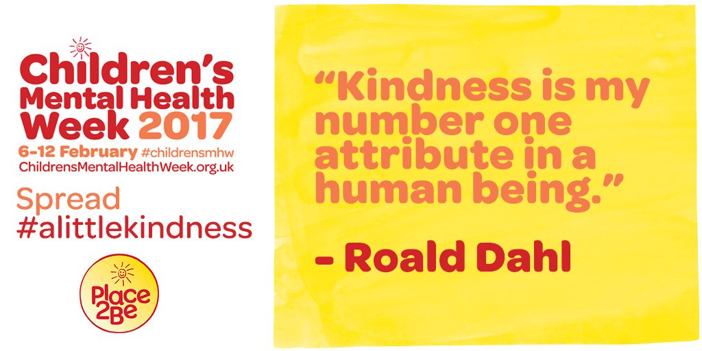 Children's Mental Health Week begins tomorrow. Challenge yourself to spread #alittlekindness! #childrensmhw https://t.co/8ghwG6v9yZ