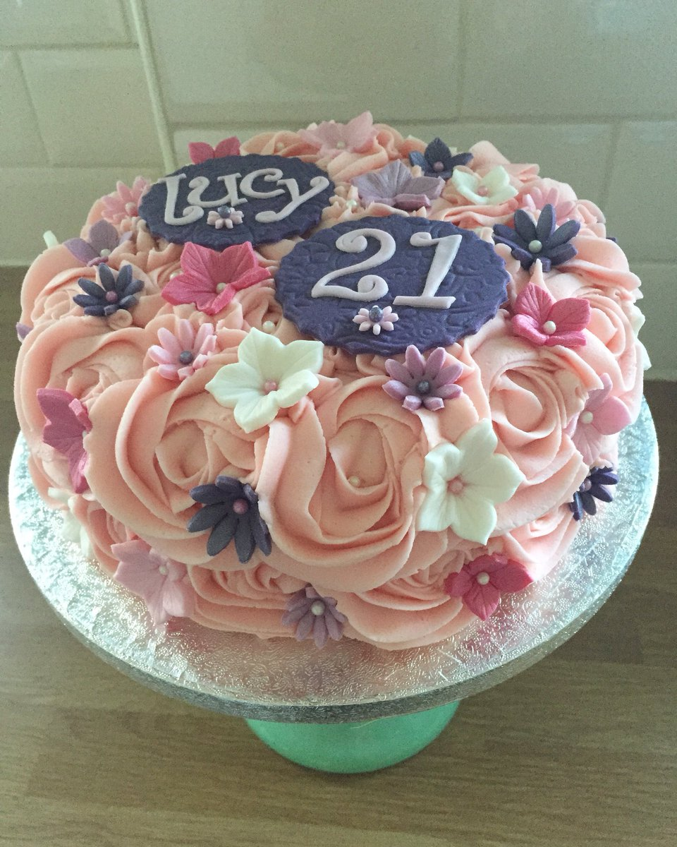 Saddleworthbakehouse On Twitter Pretty 21st Birthday Cake For Lucy