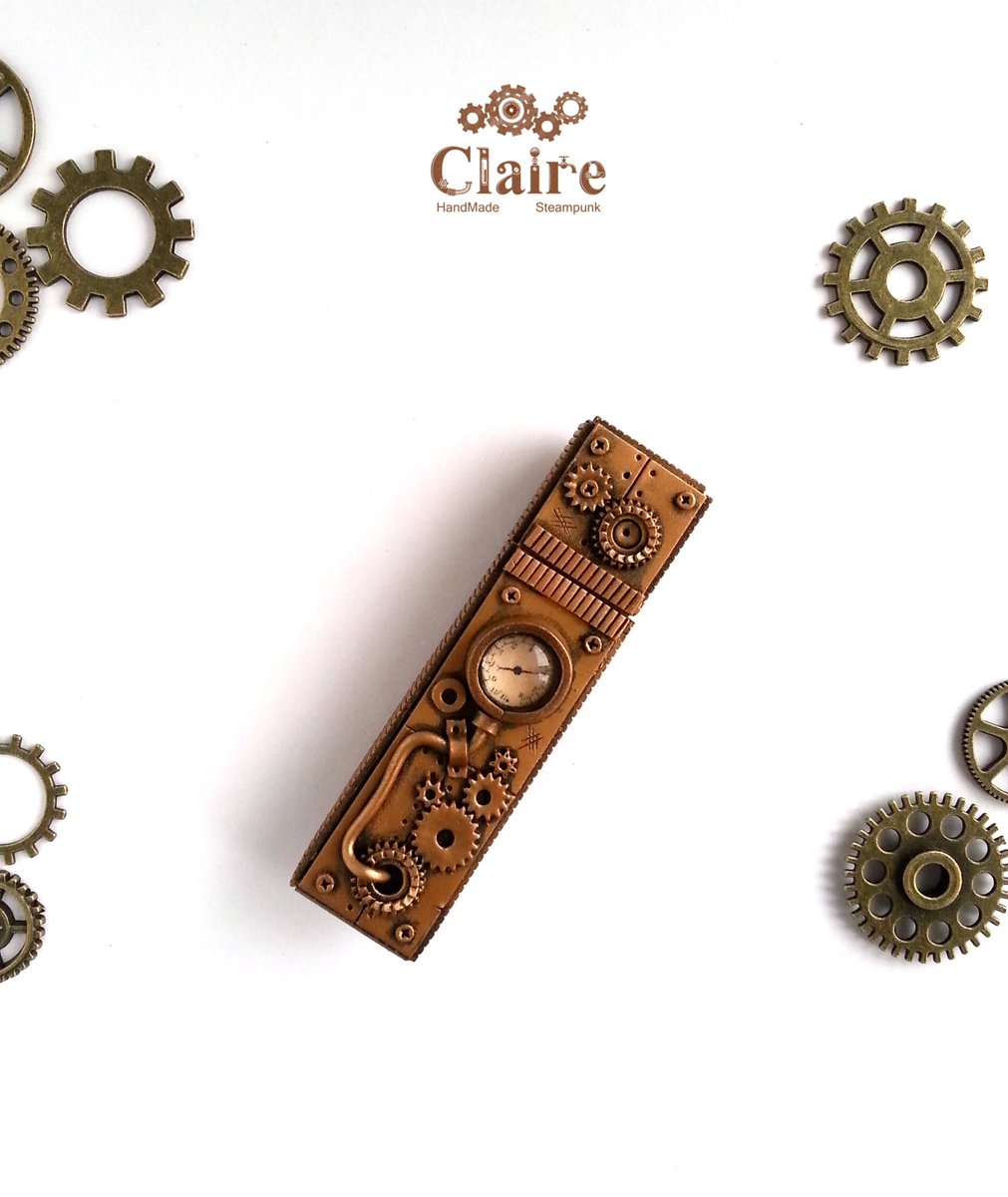 #Geek Awesome of the Day: #Steampunk #USB Flash Drive handmade by @SvetlanaLikhova #Etsy v @joshuaswifter1 #SamaGeek