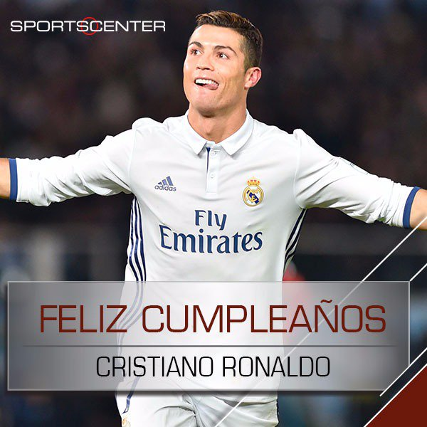 Sportscenter On Twitter Feliz Cumple Cristiano Ronaldo Celebra