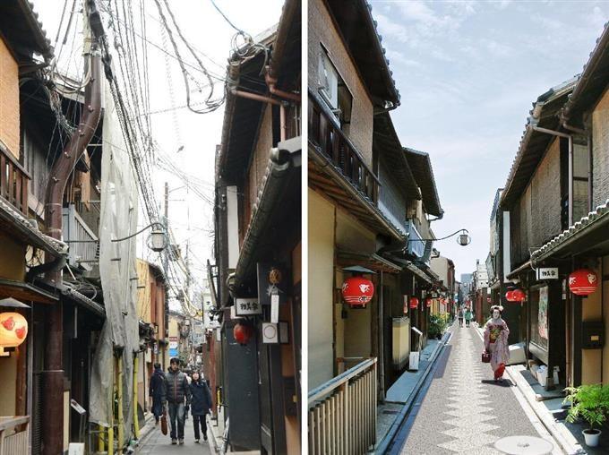 埋めたら…先斗町の町並みスッキリ sankei.com/photo/daily/ne…