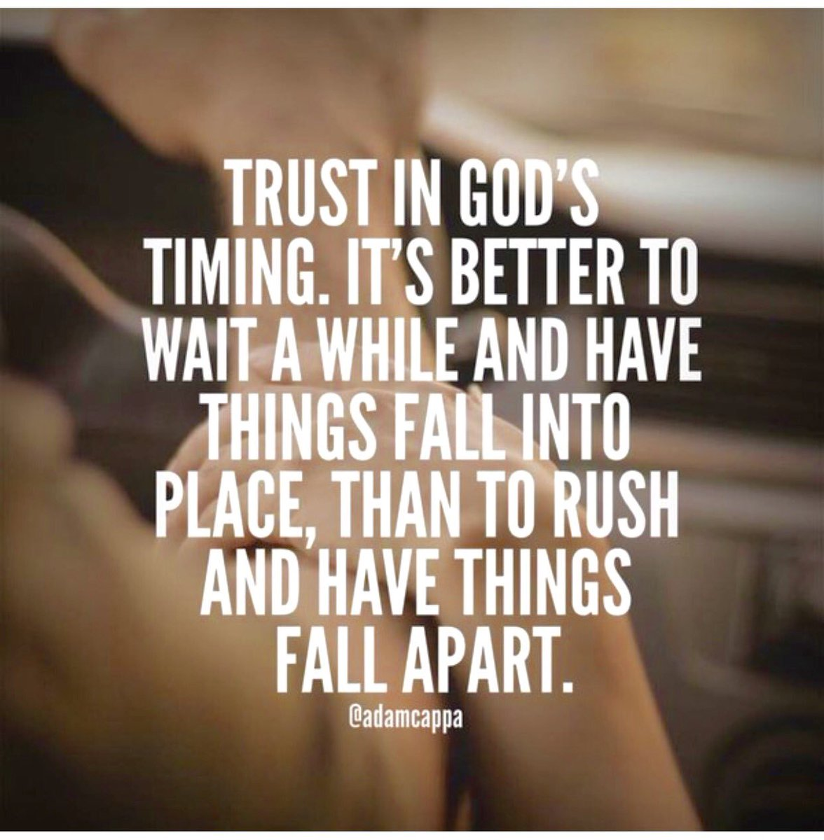 """Inspirational Quotes On Twitter: """"Trust In God's Timing"""