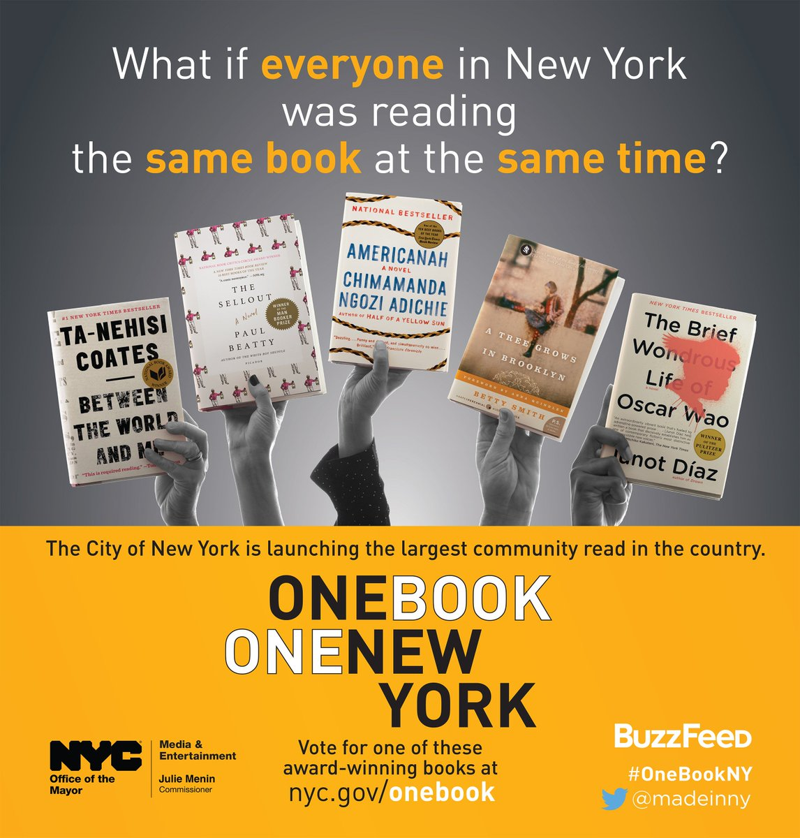 Have you voted for your #OneBookNY pick yet? https://t.co/TZUYyvZ4dK https://t.co/hfDH8ii66j
