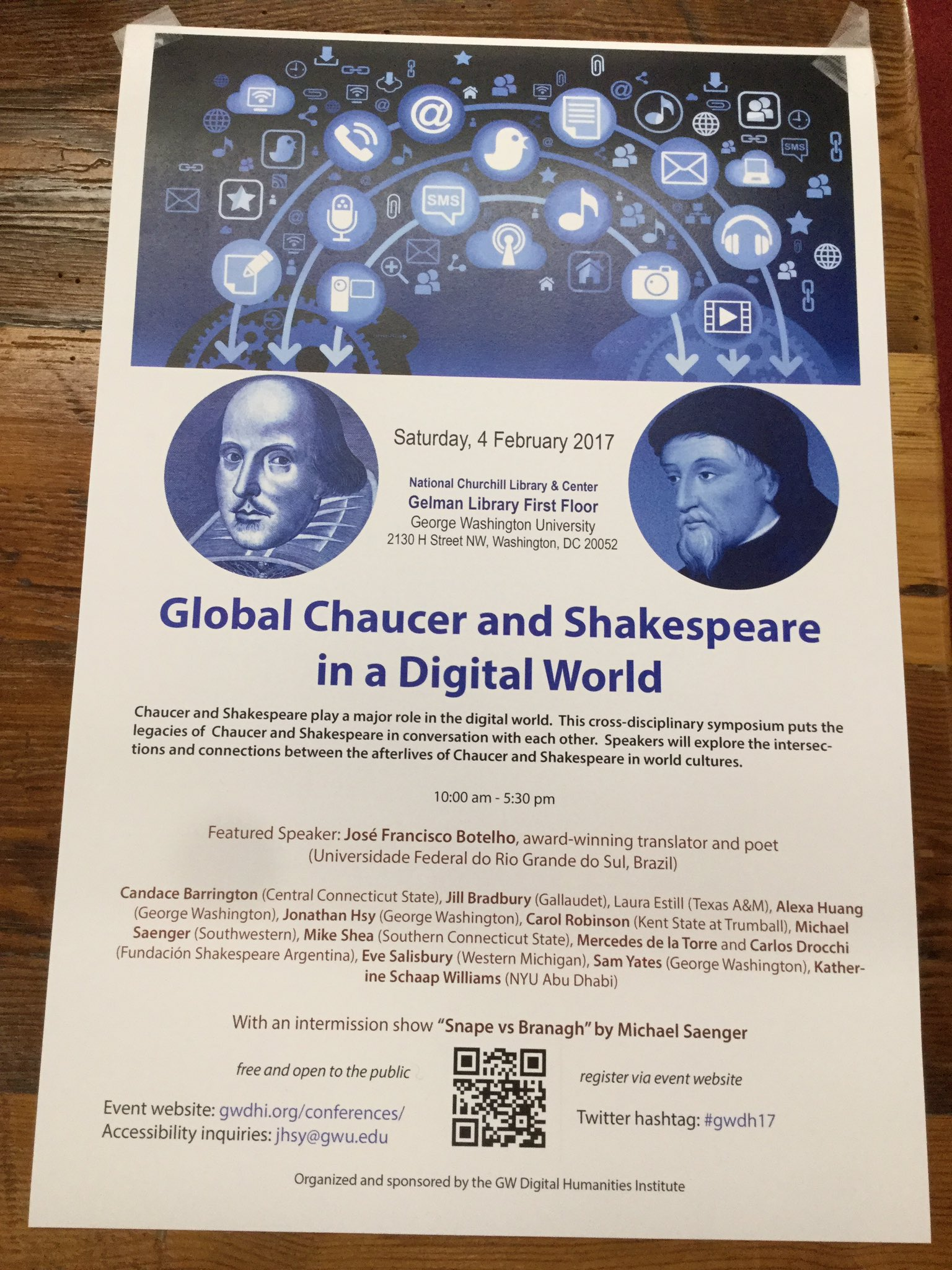 Thumbnail for #GWDH17: Global Chaucer and Shakespeare in a Digital World