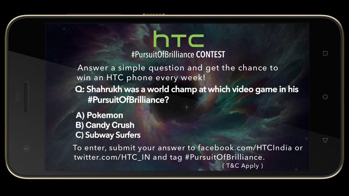 HTC #PursuitOfBrilliance contest is live now @MissMalini @Vh1India #Vh1InsideAccess #Desire10Pro https://t.co/tdp0eXKA4B