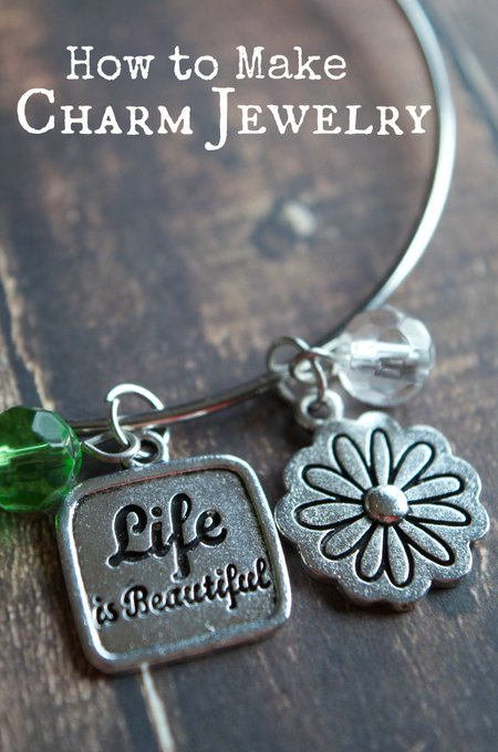 DIY Craft Tutorial: How to Make DIY Charm Jewelry