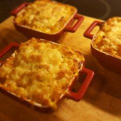 Squash and blue cheese macaroni bake