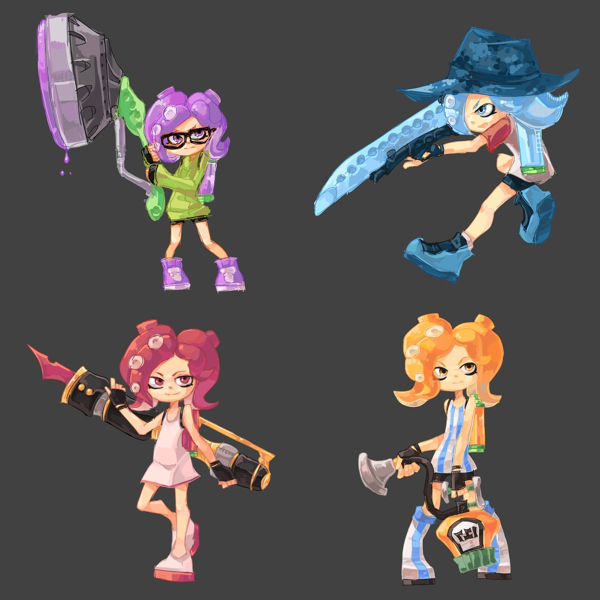 """Dystify On Twitter: """"Linkling Reminded Me Of The Octoling"""