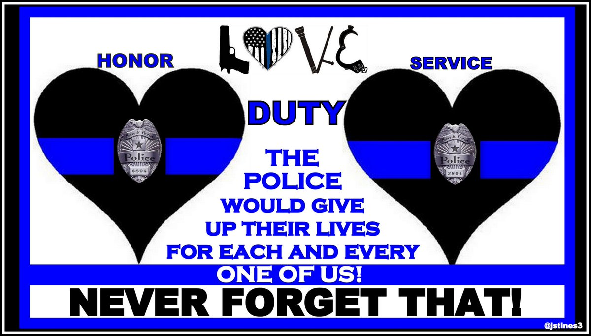 Police officers will give up their lives for us all. THANK YOU!   #PJNET #BlueLivesMatter #BackTheBlue <br>http://pic.twitter.com/B89ZoJpikI