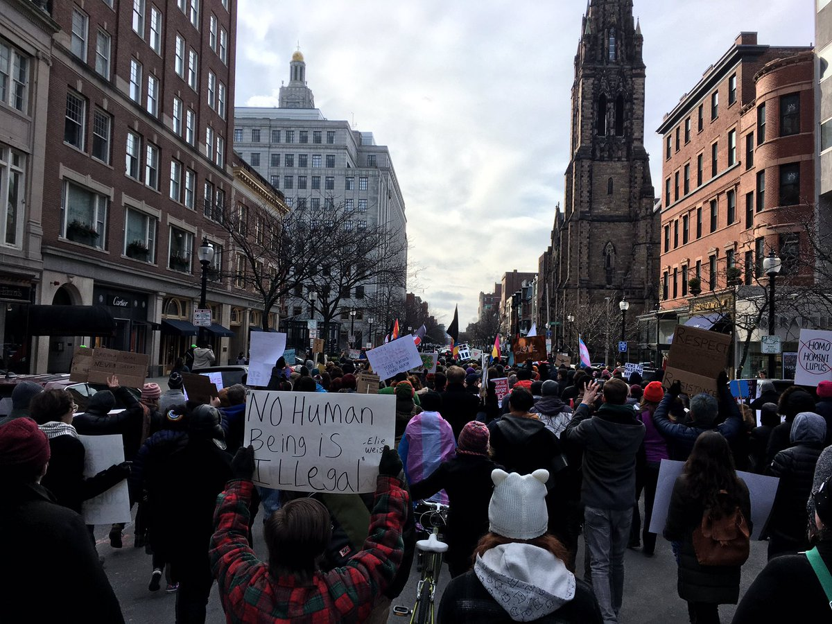 This is what democracy looks like. Queer/Trans Immigrant Solidarity march in Boston now. https://t.co/2R5aZABqDv