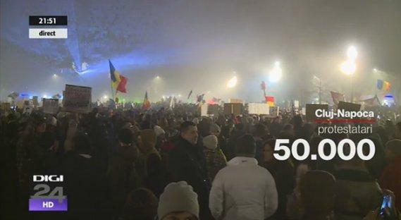 Около 500 тысяч человек в Румынии требуют отставки правительства - Цензор.НЕТ 1538