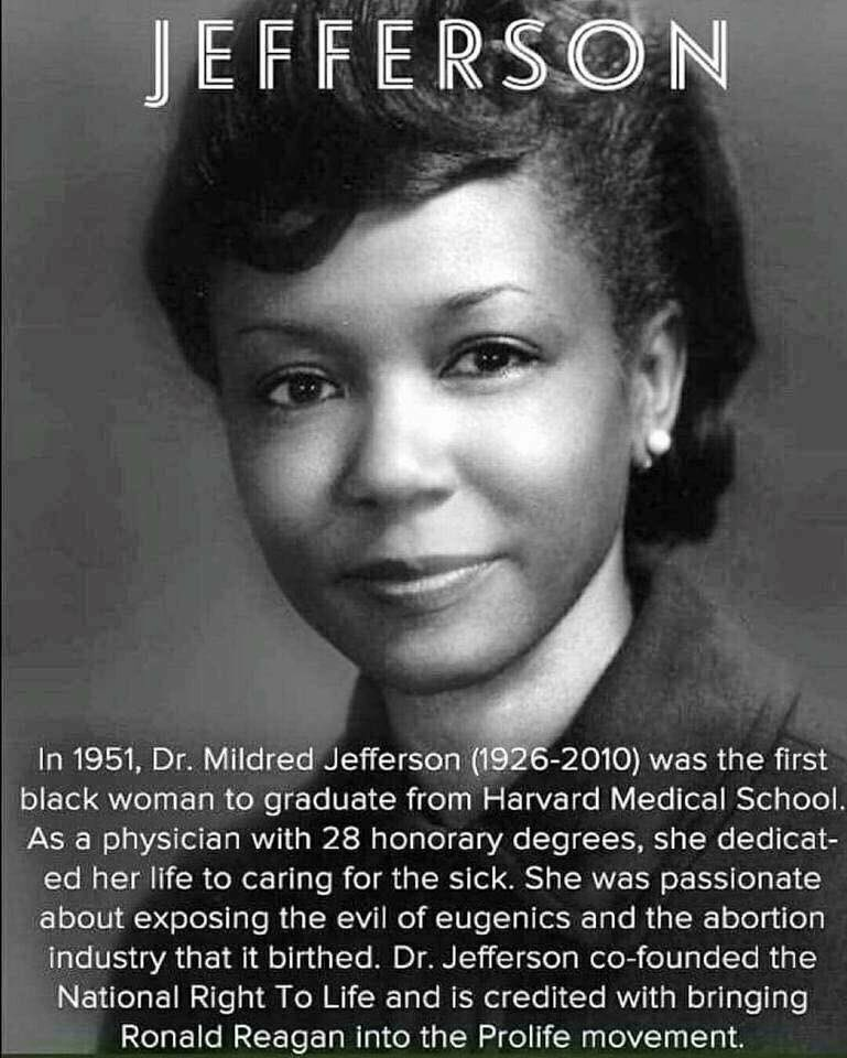 Thank you, Dr. Mildred Jefferson for all you have done. Incredible women. #BlackHistorymonth https://t.co/O5RfwDGlNb