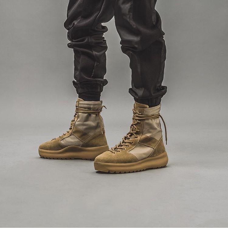 yeezy season 3 boots on feet