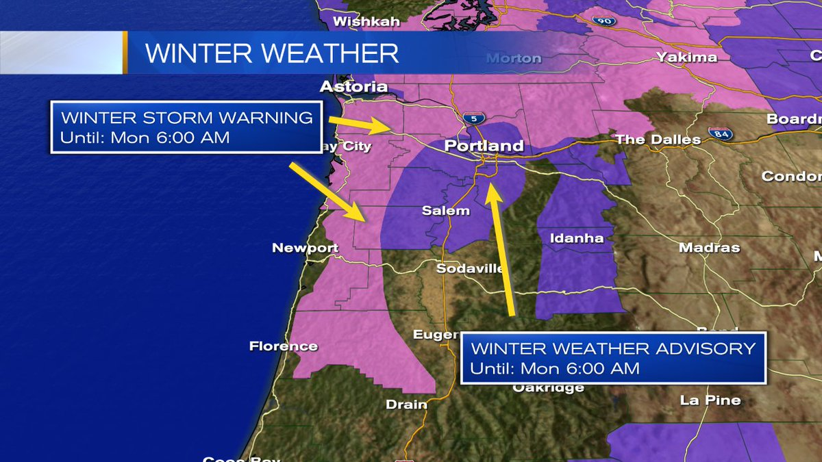 Best chance for #pdxsnow is when an area of low pressure slips north and allows colder air to drive to the valley floor near midnight. <br>http://pic.twitter.com/c2p7vGt7xH