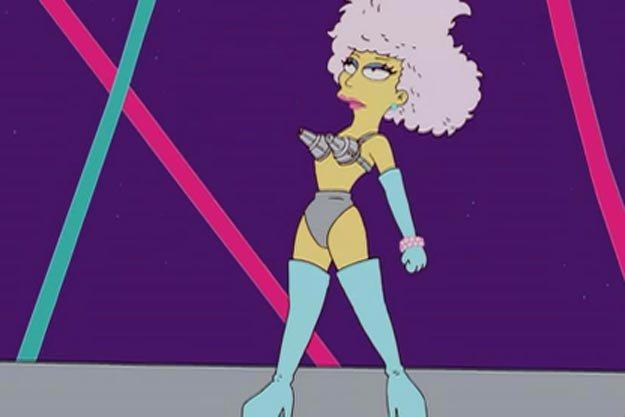 Los Simpson lo predijeron: Lady Gaga en el Medio Tiempo del #SuperBowl